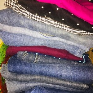Jeans, pants old navy express American Eagle 6-10